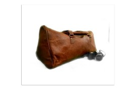 Vintage Goat Leather Leather Duffle Gym Cabin Ovrnight Travel Sports Bag