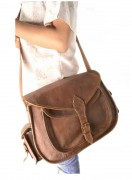 WOMEN LEATHER 14 CROSS BODY MESSENGER BAG PURE LEATHER SATCHEL CAMERA BAG PURSE