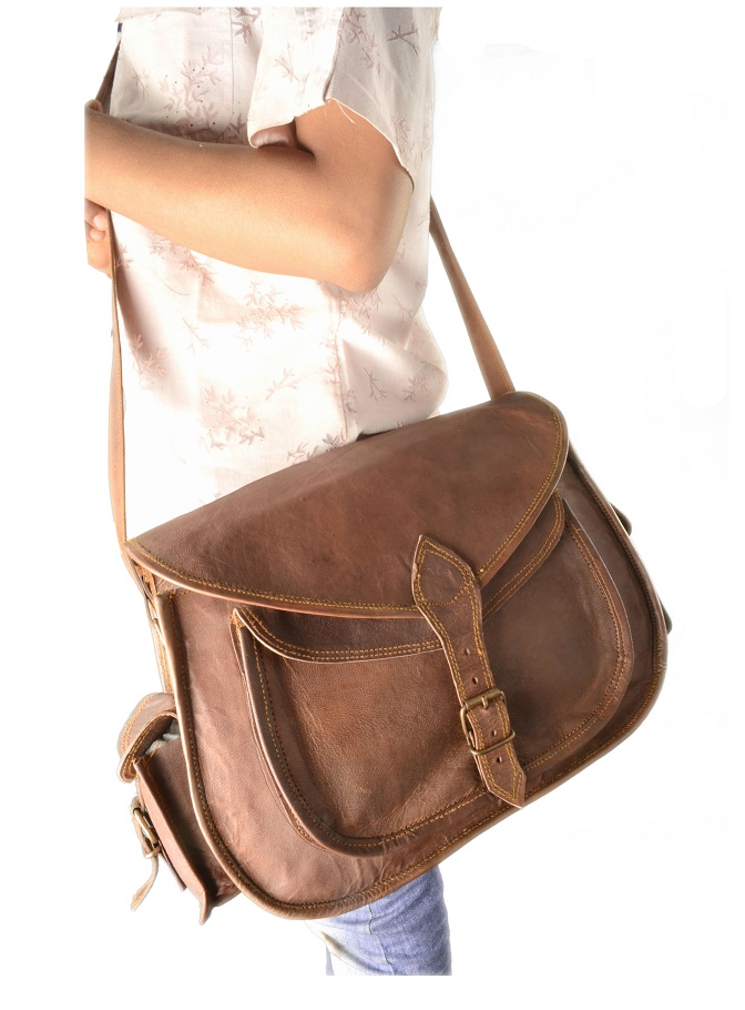 WOMEN LEATHER 14 CROSS BODY MESSENGER BAG PURE LEATHER SATCHEL CAMERA BAG  PURSE 7c68f8955