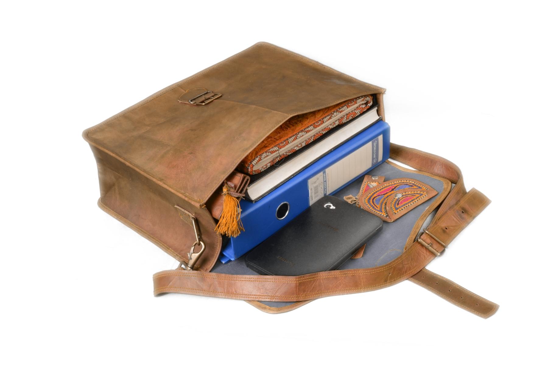 a08fb8147f2 10″ leather messenger bag, Ethical Fashion Laptop Satchel Mac book  Messenger Bag